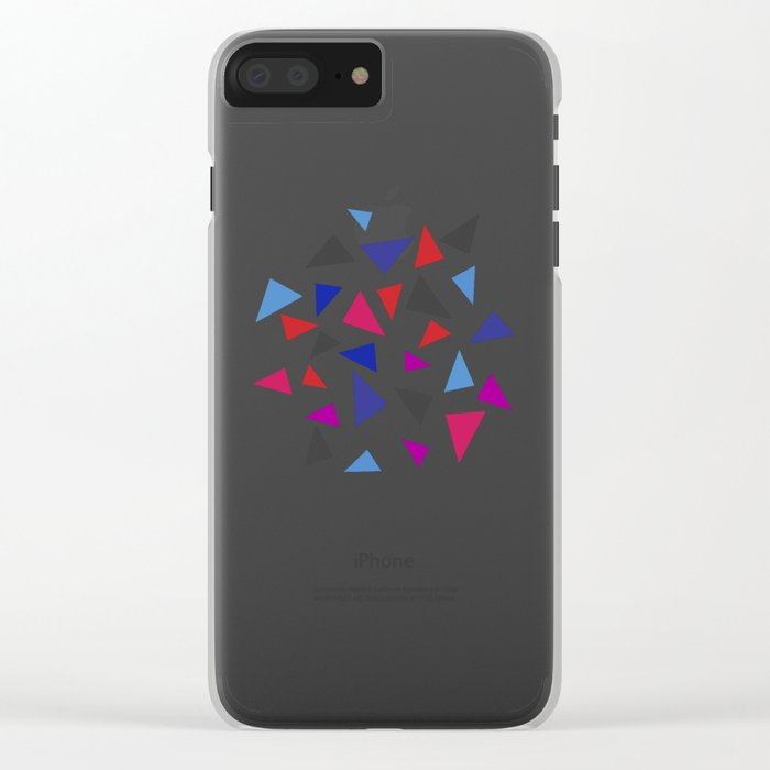 Colorful geometric pattern VIII Clear iPhone Case
