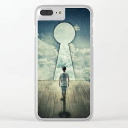 keyhole in the wall Clear iPhone Case