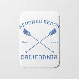Vintage Redondo Beach Vacation Stuff Bath Mat