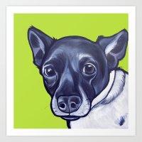 sasha grey Art Prints featuring Sasha by Pawblo Picasso