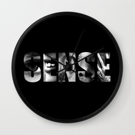 Sense (Black Background) Wall Clock