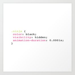 Coding Ninja Art Print