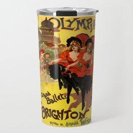 Belle Epoque vintage poster, Olympia, Grand Ballet Travel Mug