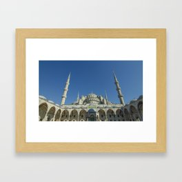 Mosque in Istanbul Turkey Framed Art Print