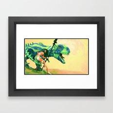 Dinoblues Framed Art Print