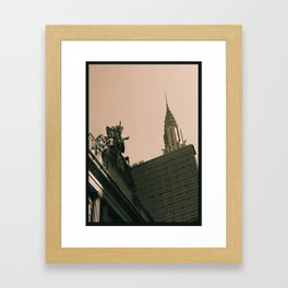 Old vs New Framed Art Print
