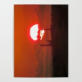 Fiery May Sunset Poster