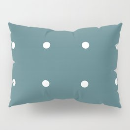 Retro Matted Green with White Dots Pillow Sham