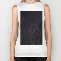 spaceman Biker Tanks featuring Spaceman by Julianne Ess