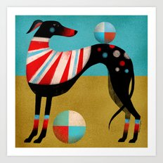 RACE DOG Art Print