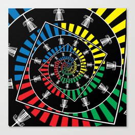 Spinning Disc Golf Baskets Canvas Print