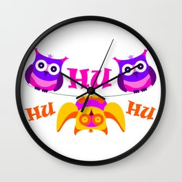 Triolium - owl party Wall Clock