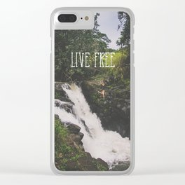 Live Free Clear iPhone Case