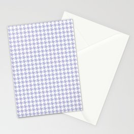 PreppyPatterns™ - Modern Houndstooth - white and mist lavender blue Stationery Cards