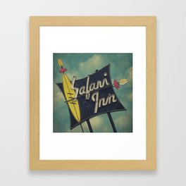 Safari Inn, Burbank, CA.  Framed Art Print
