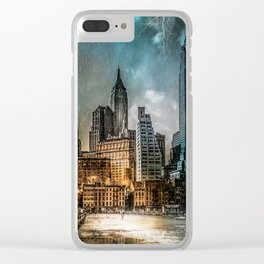 A Storm in New York City Clear iPhone Case