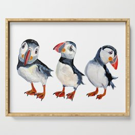 puffins Serving Tray