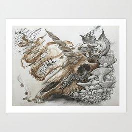 Bukowski's Unicorn Art Print