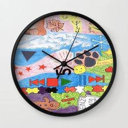 Sheeran Tattoos Wall Clock