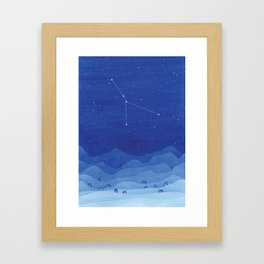 Cancer constellation, mountains Framed Art Print