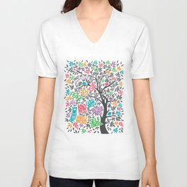Fruit Of The Spirit (Full Color) Unisex V-Neck