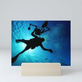 Scuba Diver Cameraman Mini Art Print