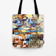 Glitch Pin-Up Redux: Yasmin & Yardley Tote Bag