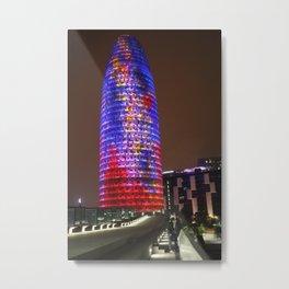 Barcelona Torre Agbar Metal Print