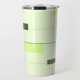 Mid Mod Grid in Green Travel Mug