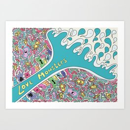 Love Monsters Art Print