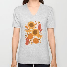 Sunflowers + Mums Unisex V-Neck