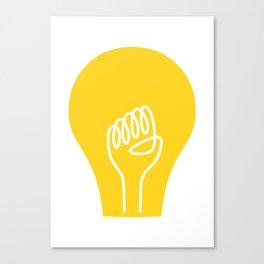 THE IDEA - cool art poster, Light, Scandinavian, Illustration, Fine Art, Cute Quirky Gift Canvas Print