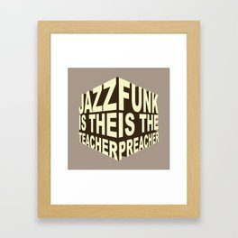 Jazz Funk Cube Framed Art Print