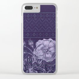 Flower - Argyle Clear iPhone Case