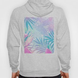 Pastel Rainbow Tropical Paradise Design Hoody