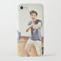 louis tomlinson iPhone & iPod Cases featuring Louis Tomlinson by Haley Nicole