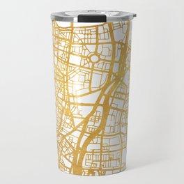 TEL AVIV ISRAEL CITY STREET MAP ART Travel Mug