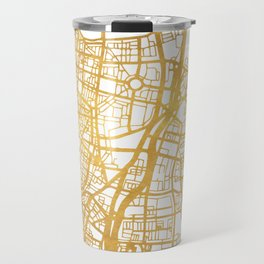 TEL AVIV ISRAEL CITY STREET MAP ART Travel Mug
