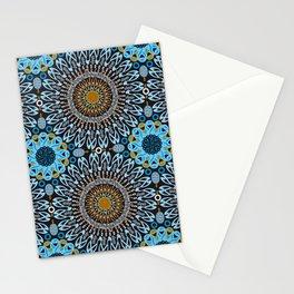 Calligraphic Boho (Blue) Stationery Cards