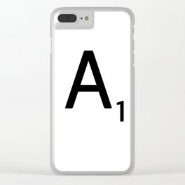 Letter A - Custom Scrabble Letter Wall Art - Scrabble A Clear iPhone Case