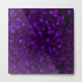 Purple Ultra Violet Glitter Bokeh Glam Pattern Metal Print