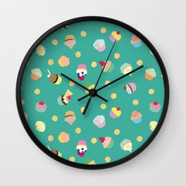 Cups & Cakes Wall Clock