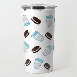 Oreo and milk pattern Travel Mug