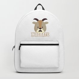 Magoats Funny Goat Herbivore Mammals Wildlife Animal Nature Gift Backpack