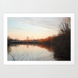 Anacostia sunset Art Print