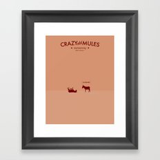 Crazy old Mule / I See Dead Mule Framed Art Print