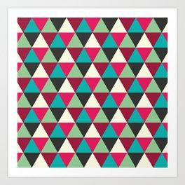 Southwestern Tribal Triangle Pattern Art Print