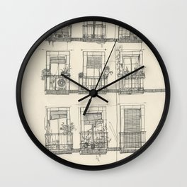 View from the balcony Wall Clock