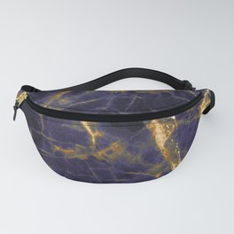 Majesty Purple Marble With 24-Karat Gold Hue Veins Fanny Pack