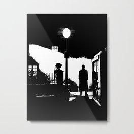 The Exorcist movie poster parody of Doctor Who 10th Metal Print